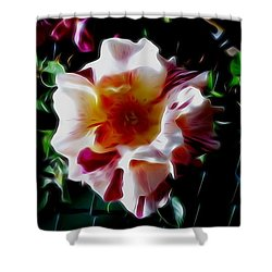 'candy Land' Rose In Abstract Shower Curtain