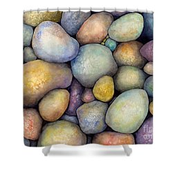 Shower Curtain featuring the painting Rock Candy by Hailey E Herrera