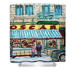 Candy Shop Shower Curtain by Carole Spandau