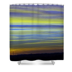Shower Curtain featuring the photograph Candy Sky 1 by Victor K