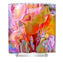Canna Abstract 3 Shower Curtain by M Diane Bonaparte
