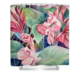 Canna Shower Curtain by Deborah Ronglien