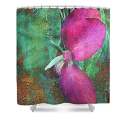 Canna Grunge Shower Curtain
