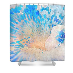 Canna Snow Shower Curtain