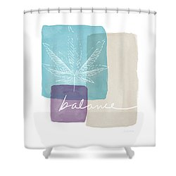Cannabis Leaf Watercolor 3- Art By Linda Woods Shower Curtain by Linda Woods