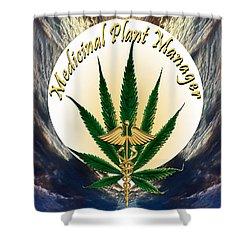 Cannabis Medicinal Plant Shower Curtain by Michele Avanti