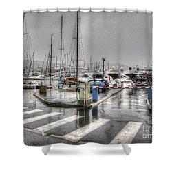Cannes Street Rain Shower Curtain