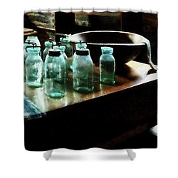 Canning Jars Shower Curtain by Susan Savad