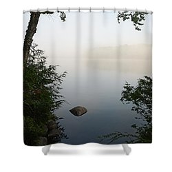 Canning Lake Mist Shower Curtain