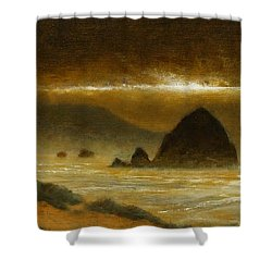Cannon Beach Evening Shower Curtain