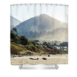 Cannon Beach Oceanfront Vacation Homes Shower Curtain