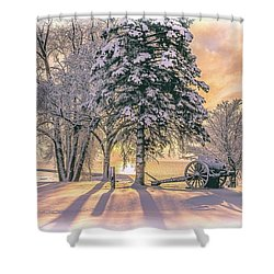 Cannon By The Lake Shower Curtain