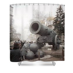 cannon in Moscow Shower Curtain by Ted Pollard