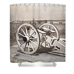 Cannon Shower Curtain by Randall  Cogle