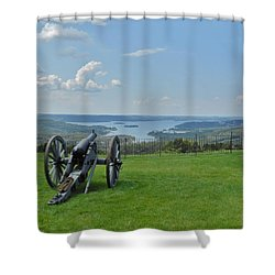 Cannons Ready Shower Curtain by Julie Grace
