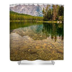 Canoe Camping In The Teton Range Shower Curtain by Serge Skiba