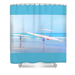 Canoe Ladies Shower Curtain