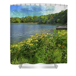 Canoe Number 9 Shower Curtain