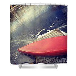 Canoe Say Winter Is Here Shower Curtain