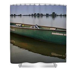 Canoe Stillness Shower Curtain