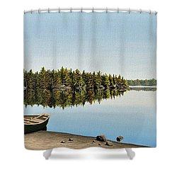 Canoe The Massassauga Shower Curtain