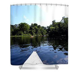 Shower Curtain featuring the photograph Canoeing On The Wekiva River  by Chris Mercer