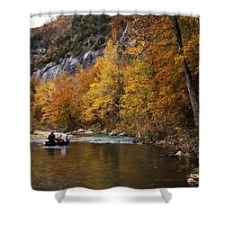 Shower Curtain featuring the photograph Canoeing The Buffalo River At Steel Creek by Michael Dougherty