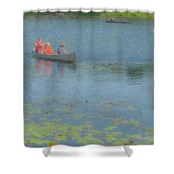 Canoes On Shovelshop Pond Shower Curtain