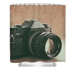 Shower Curtain featuring the photograph Canon A1 by Ana V Ramirez