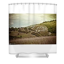 #canon #clouds #sky #kyffhaeuser Shower Curtain by Mandy Tabatt