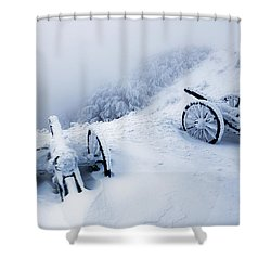 Canons Shower Curtain by Evgeni Dinev