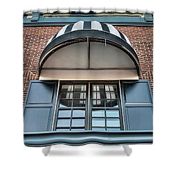 Shower Curtain featuring the photograph Canopy And Reflection In Window by Gary Slawsky