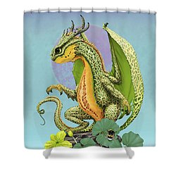 Shower Curtain featuring the digital art Cantaloupe Dragon by Stanley Morrison