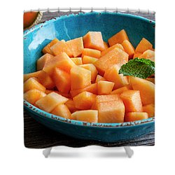 Cantaloupe For Breakfast Shower Curtain