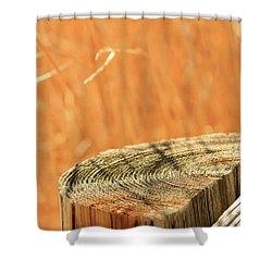 Cantigny Fence Post Shower Curtain by Joni Eskridge