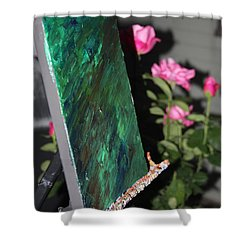 Shower Curtain featuring the photograph Canvas And Roses by Vadim Levin