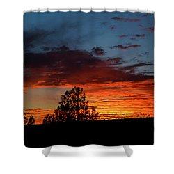 Canvas For A Setting Sun Shower Curtain