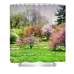 Shower Curtain featuring the photograph Garden Canvas  by Diana Angstadt