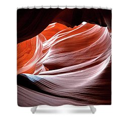 Shower Curtain featuring the photograph Canyon Abstract 2 by Nicholas Blackwell