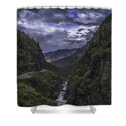 Canyon Creek Sunset Shower Curtain