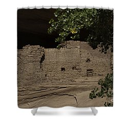 Canyon De Chelly Ancient Ruins Shower Curtain by Anne Rodkin