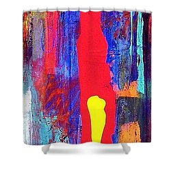 Shower Curtain featuring the painting Canyon I by Carolyn Repka