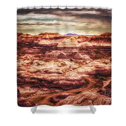 Shower Curtain featuring the photograph Canyon In The Painted Desert  ... by Chuck Caramella