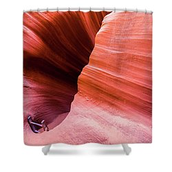 Shower Curtain featuring the photograph Canyon Ladder by Stephen Holst