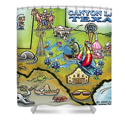 Canyon Lake Texas Shower Curtain by Kevin Middleton