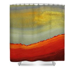 Canyon Outlandish Original Painting Shower Curtain