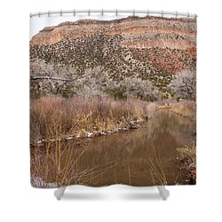 Canyon River Shower Curtain by Ricky Dean