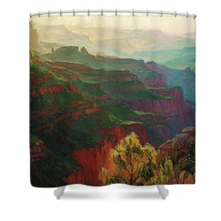Canyon Silhouettes Shower Curtain