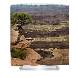 Shower Curtain featuring the photograph Canyonlands by Gary Lengyel