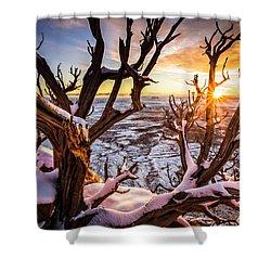 Canyonlands Winter Sunset Shower Curtain